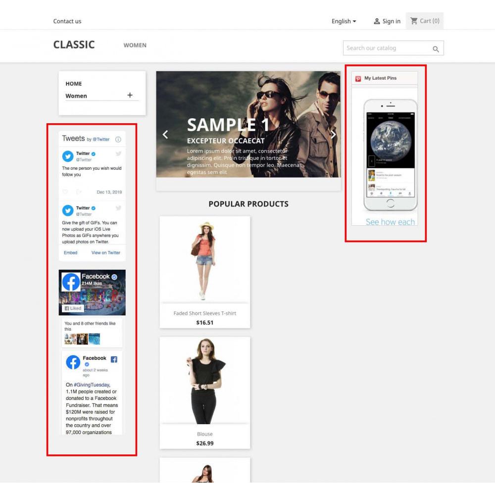 module - Widgets sozialer Netzwerke - Social Widgets + Buttons 3 in 1 - 6