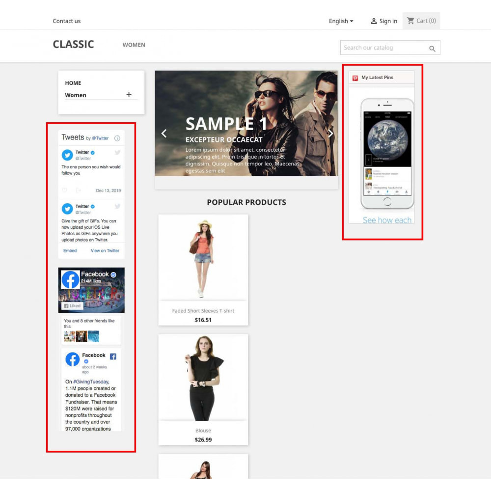 module - Social Widget - Social Widgets + Buttons 3 in 1 - 6