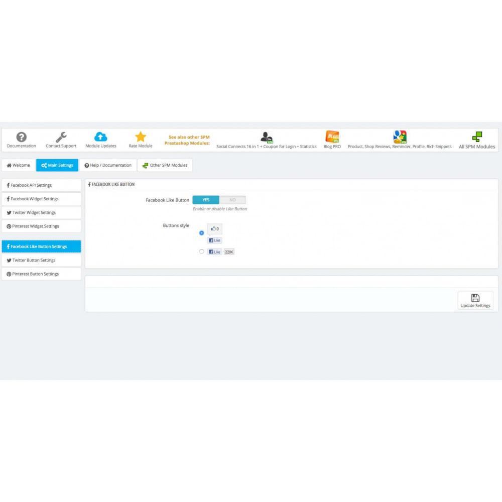 module - Social Widget - Social Widgets + Buttons 3 in 1 - 12