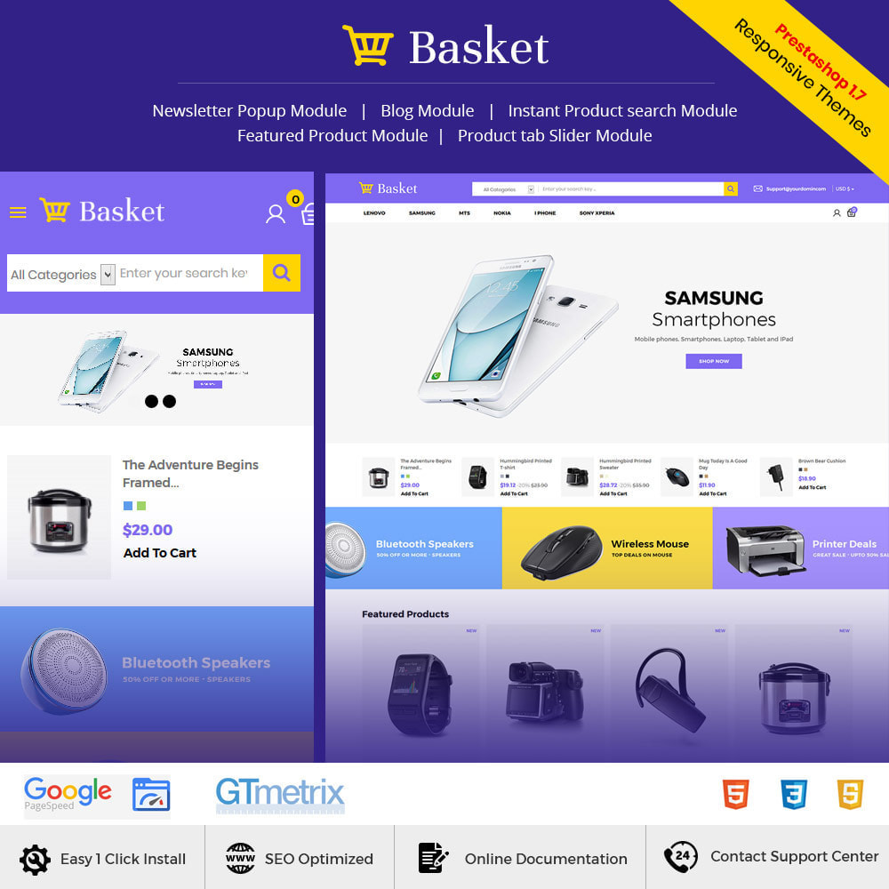 theme - Electronics & Computers - Basket Electronics - Mobile Digital  Laptop Store - 1