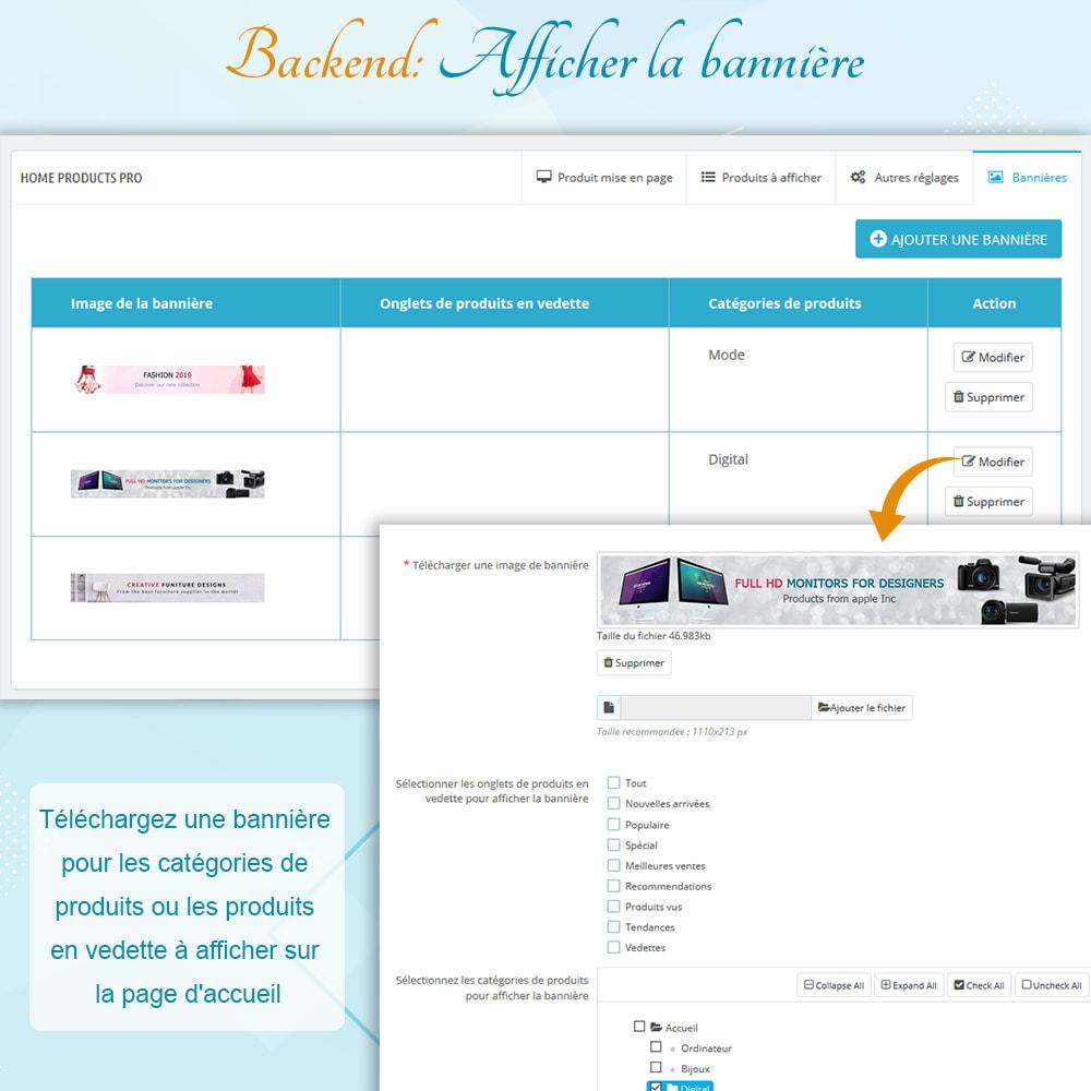 module - Produits en page d'accueil - Home Products PRO - Listes produit personnalisables - 9