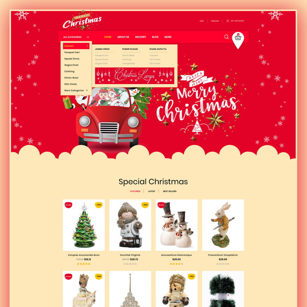 theme - Gifts, Flowers & Celebrations - Merry-Christmas - Christmas Store - 2