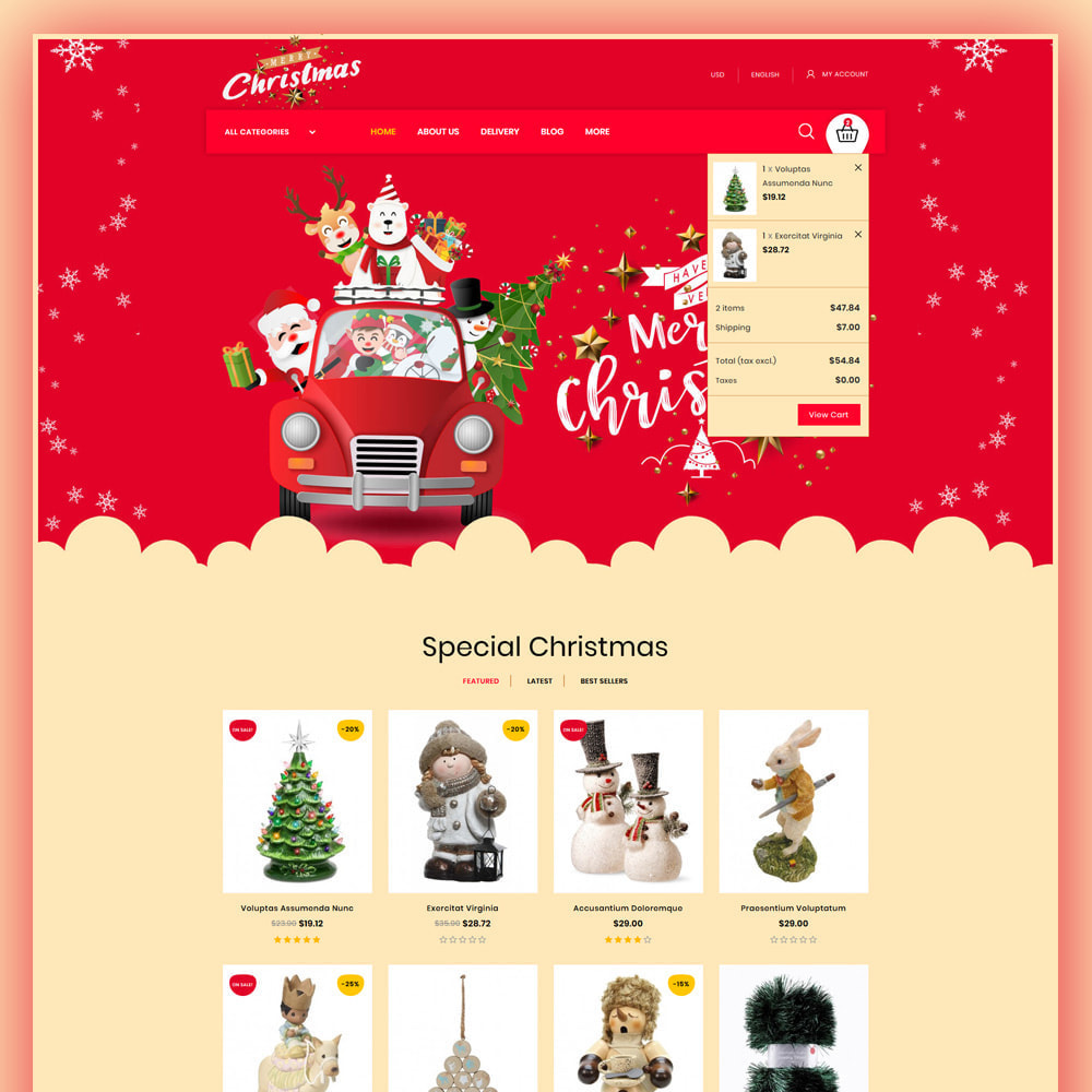 theme - Gifts, Flowers & Celebrations - Merry-Christmas - Christmas Store - 3
