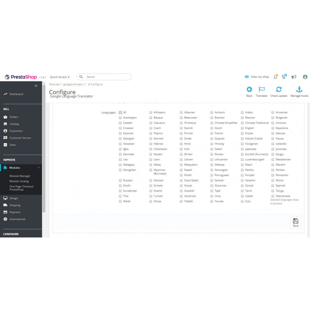 module - Internacional & Localização - Google Translate 110 Languages - Ultimate - 3