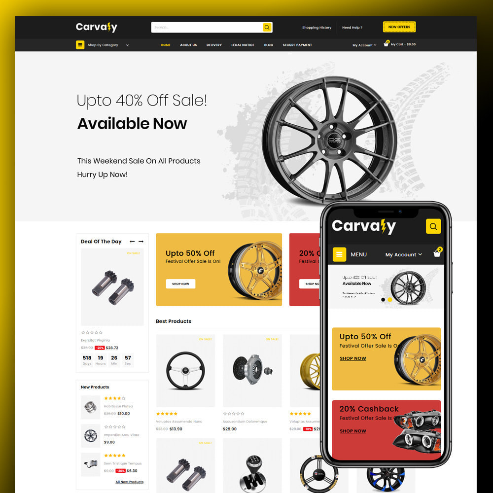 theme - Automotive & Cars - Cavaly - Autopart Store - 1