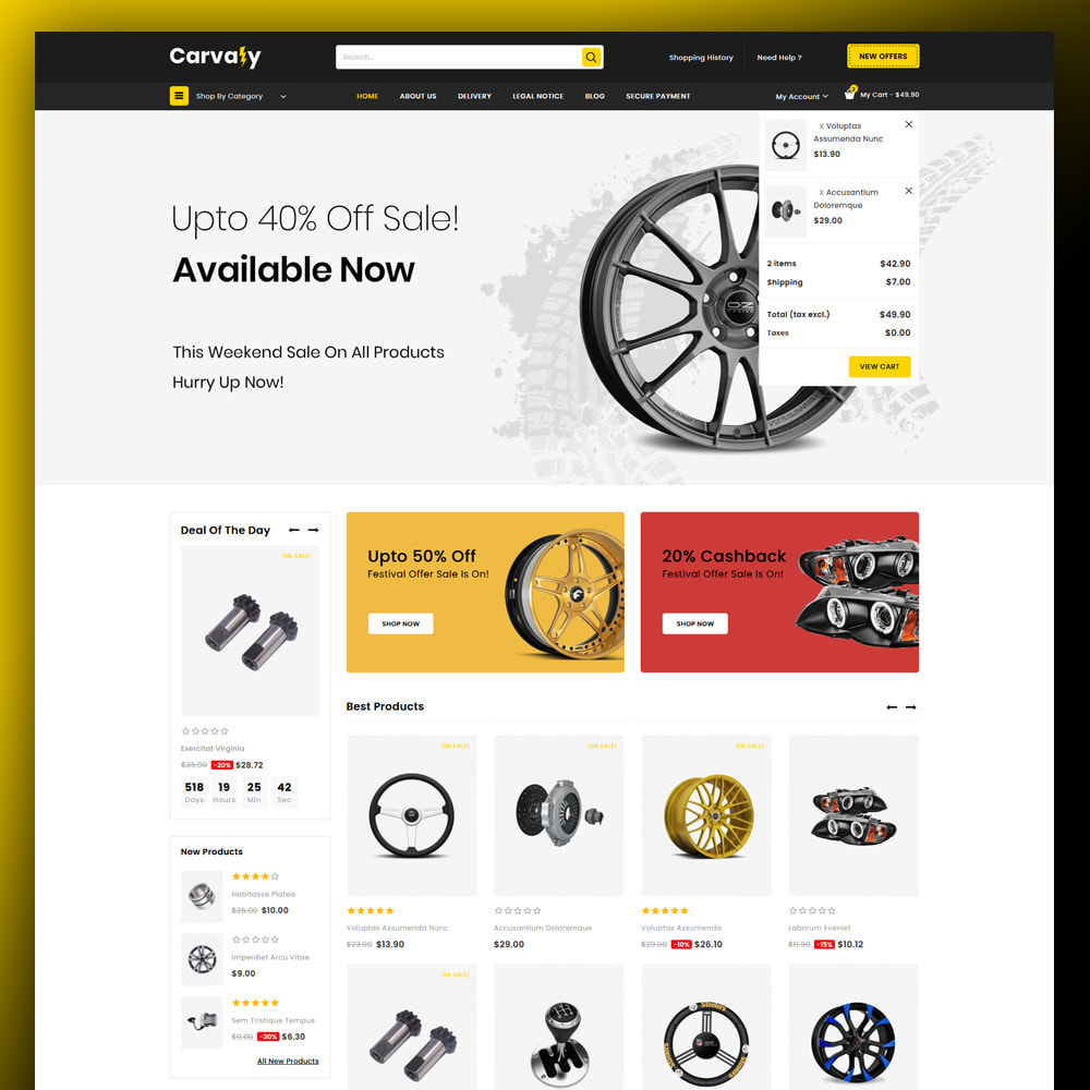 theme - Automotive & Cars - Cavaly - Autopart Store - 3