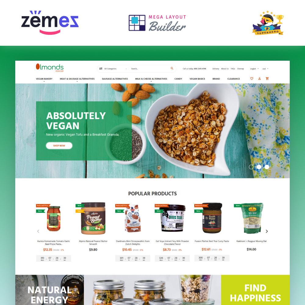 theme - Alimentation & Restauration - Almonds - Vegan Shop - 2