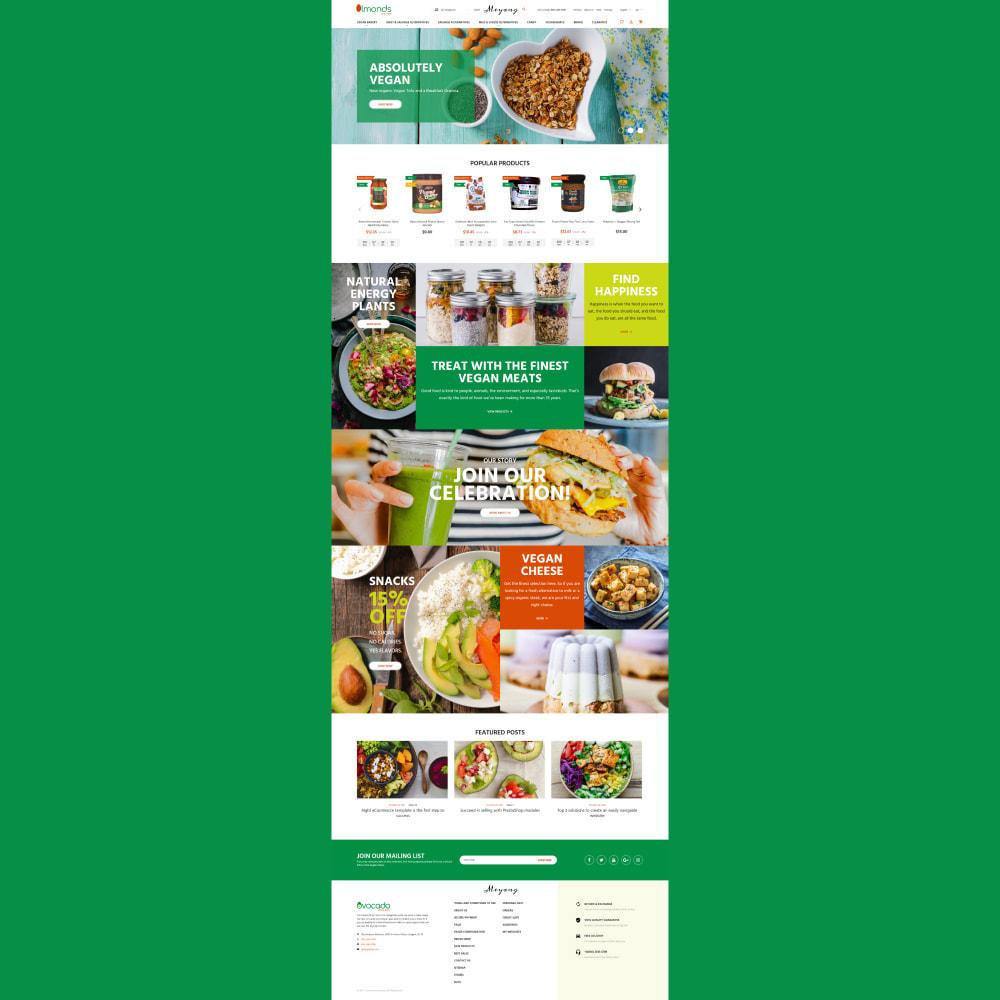theme - Cibo & Ristorazione - Almonds - Vegan Shop - 3
