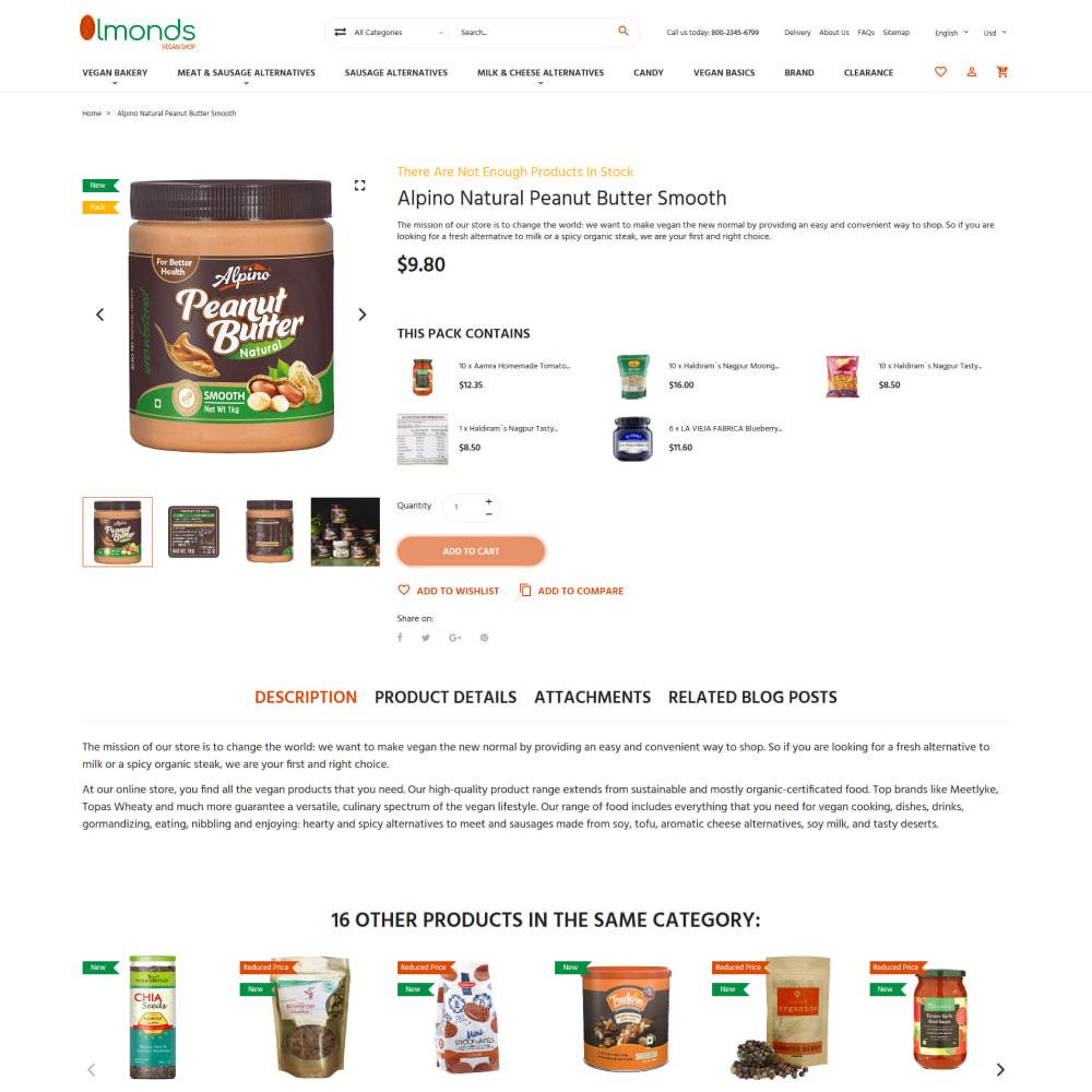 theme - Cibo & Ristorazione - Almonds - Vegan Shop - 5