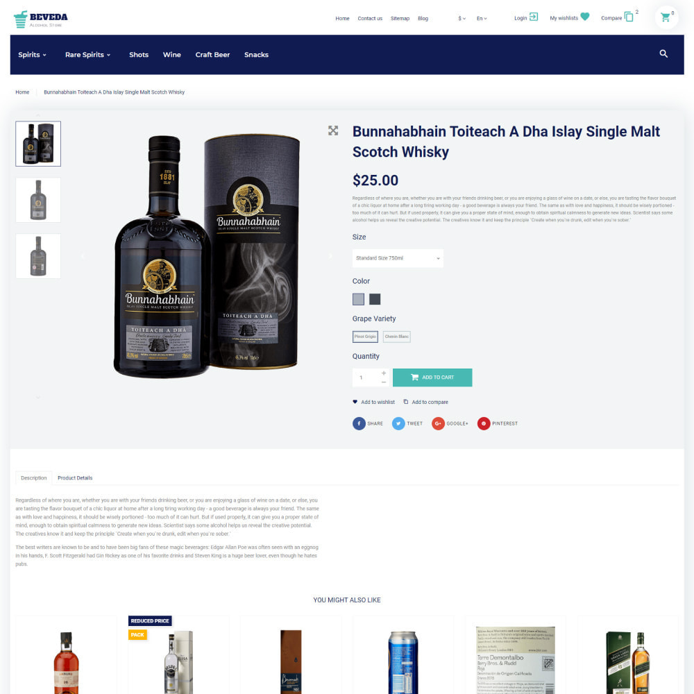 theme - Drink & Wine - Beveda - Alcohol Shop - 6