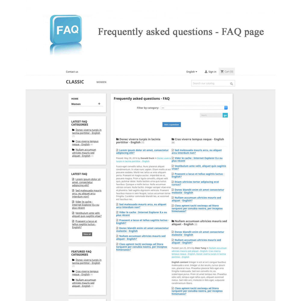 module - FAQ (Domande Frequenti) - Frequently asked questions - FAQ - 10