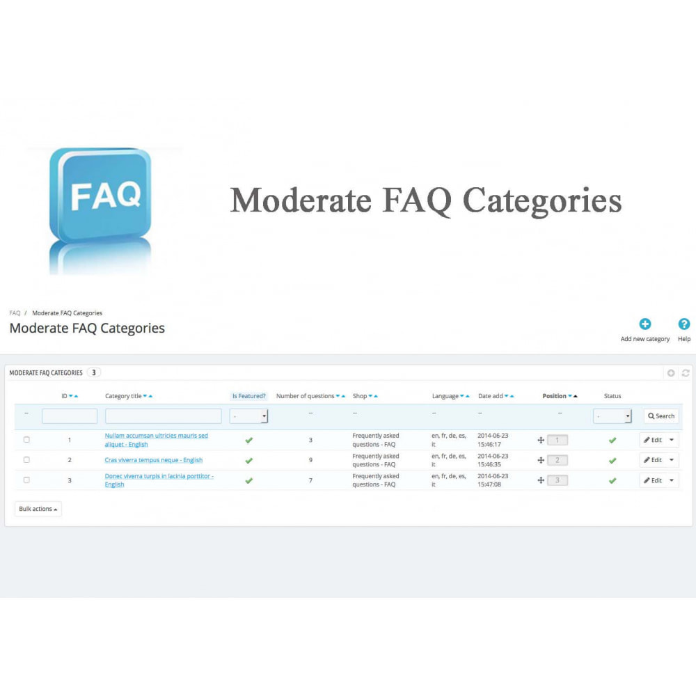 module - FAQ (Domande Frequenti) - Frequently asked questions - FAQ - 18