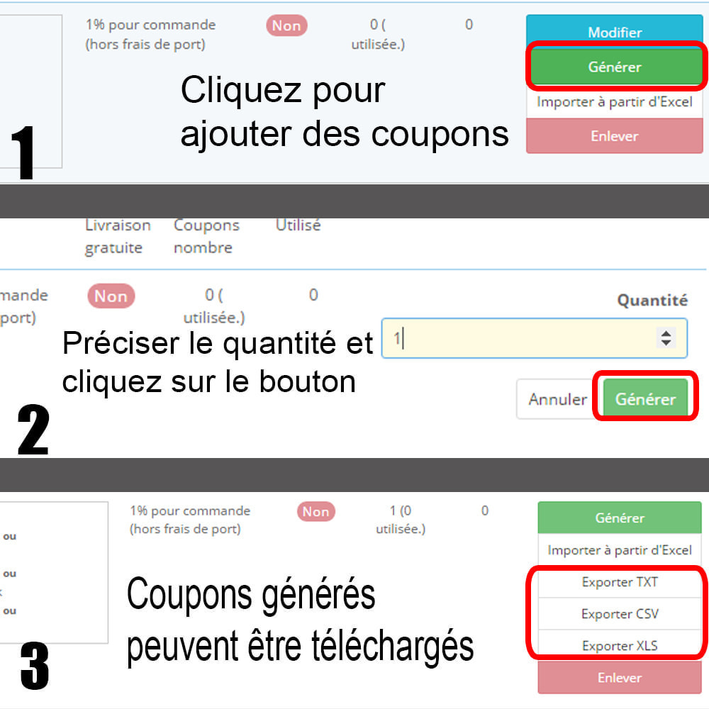 module - Promotions & Cadeaux - Coupons generator (tous les coupons de service) - 9