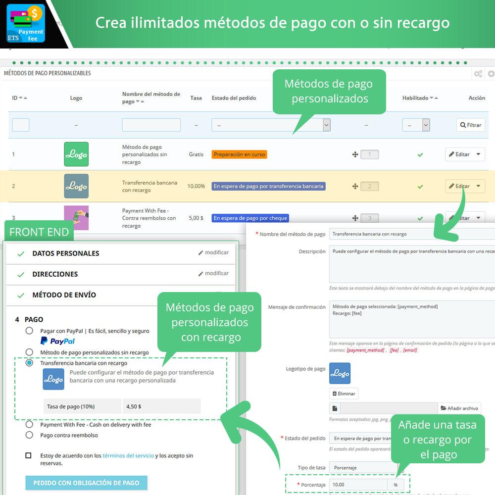 module - Otros métodos de pago - Tarifa de pago y métodos de pago personalizados - 4