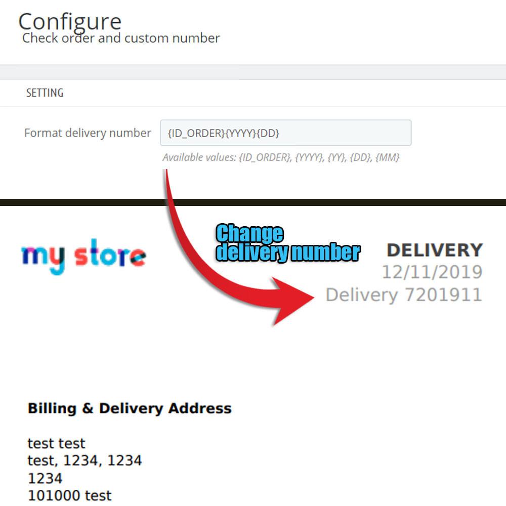 module - Procedury składania zamówień - Sprawdź kolejność i niestandardową kolejność numerów - 4