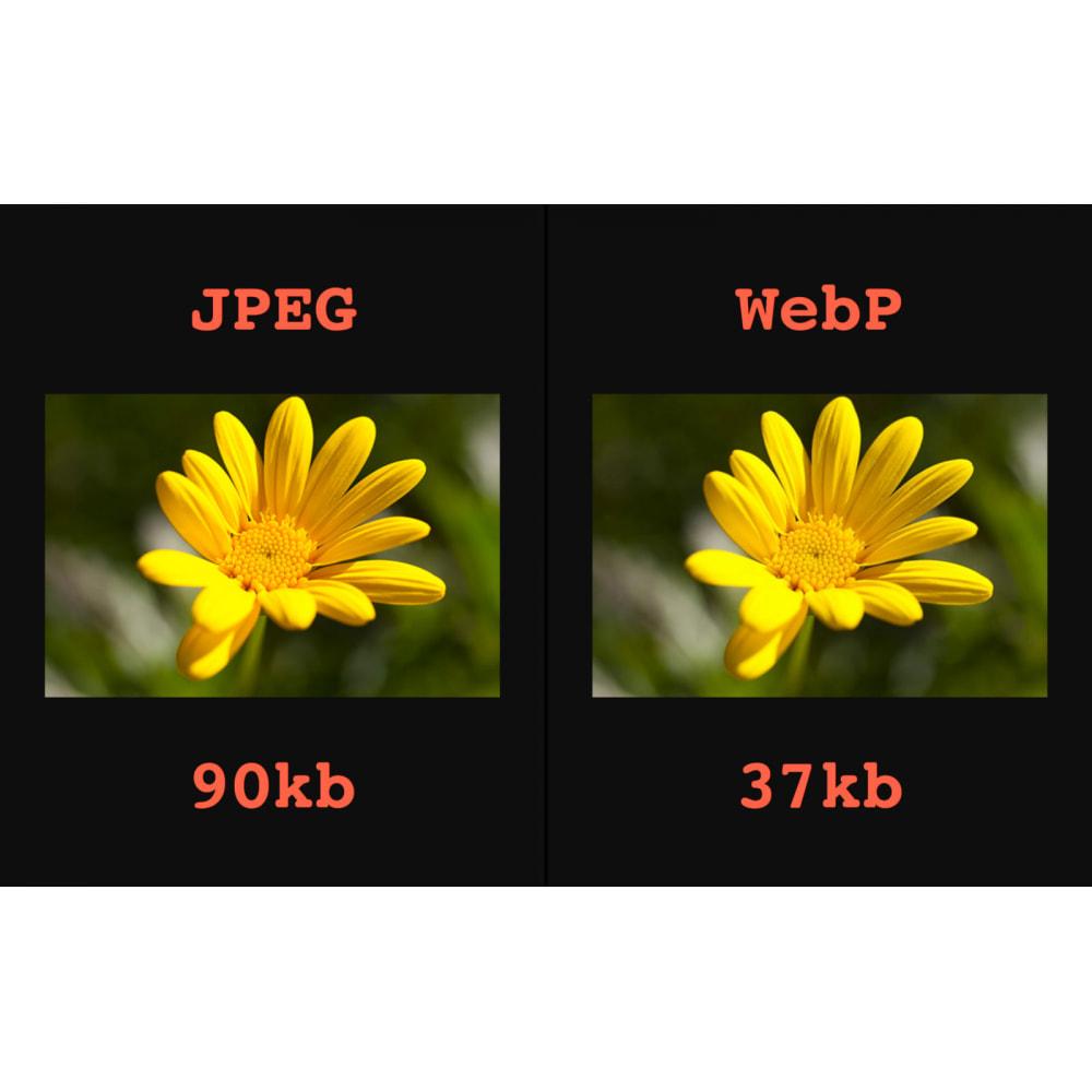 module - Visuels des produits - Image: WebP, Compression, Régénération - 2