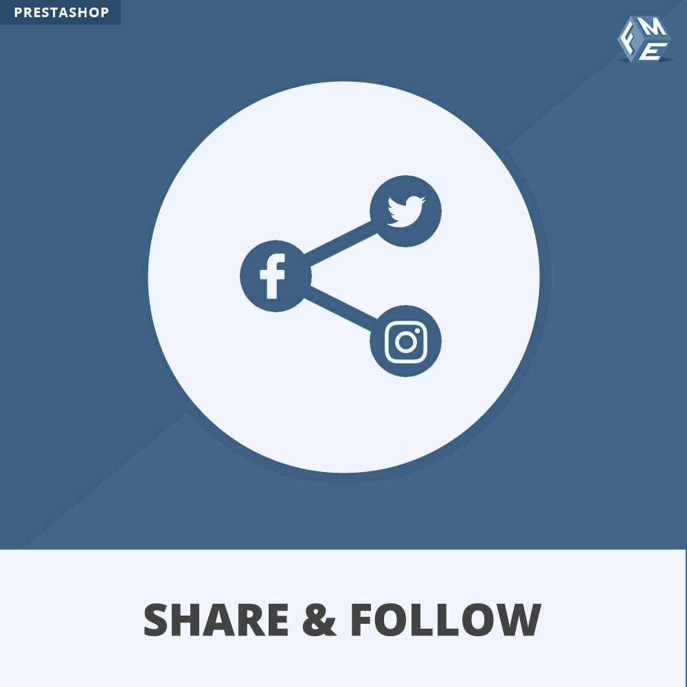 module - Deelknoppen & Commentaren - Share and Follow - Social Widget - 1
