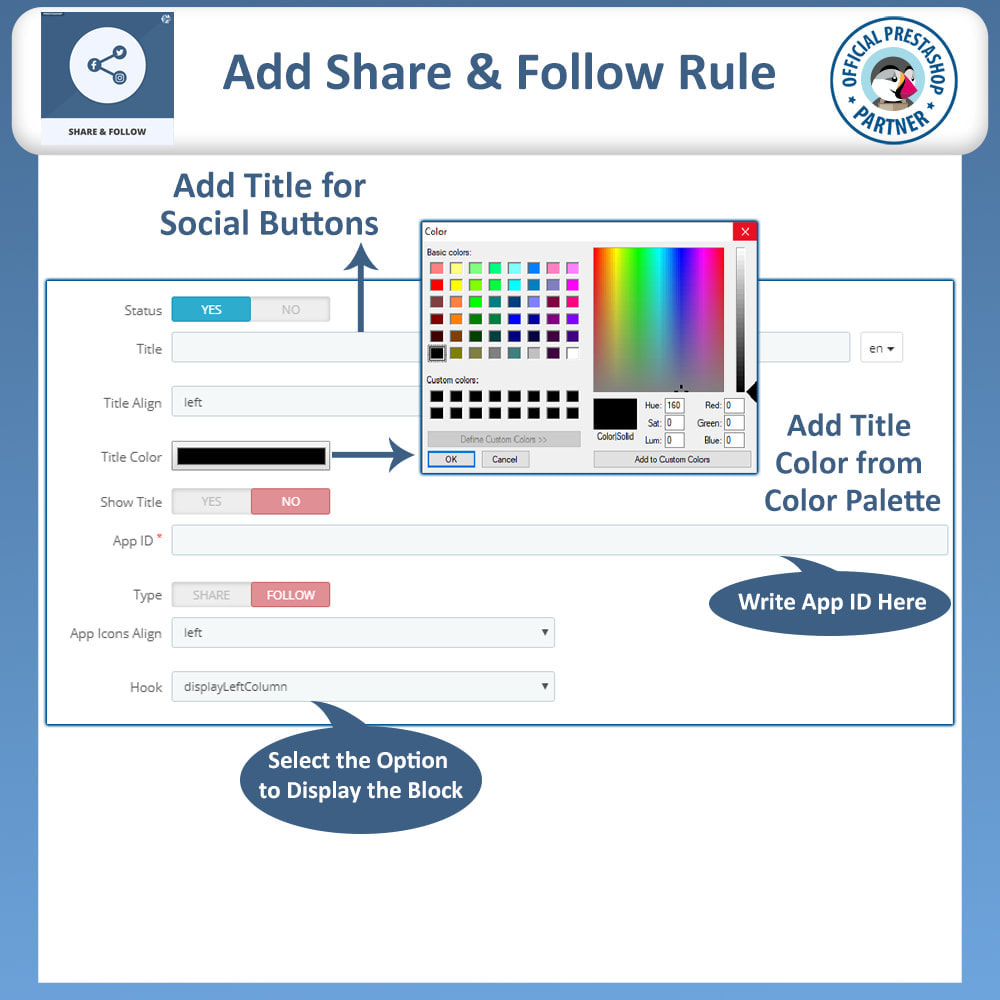 module - Deelknoppen & Commentaren - Share and Follow - Social Widget - 9