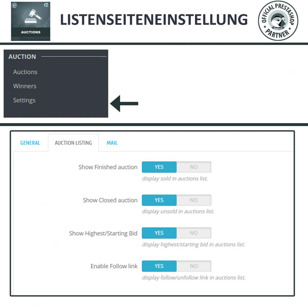 module - Auktionsseiten - Auktion Pro, Online-Auktions und Gebotsmanagement - 13