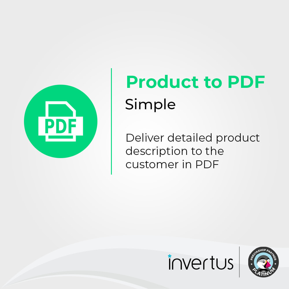 module - Informaciones adicionales y Pestañas - Product to PDF Simple - 1