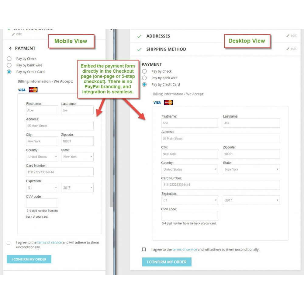 module - Pagamento con Carta di Credito o Wallet - PayPal Pro - 1