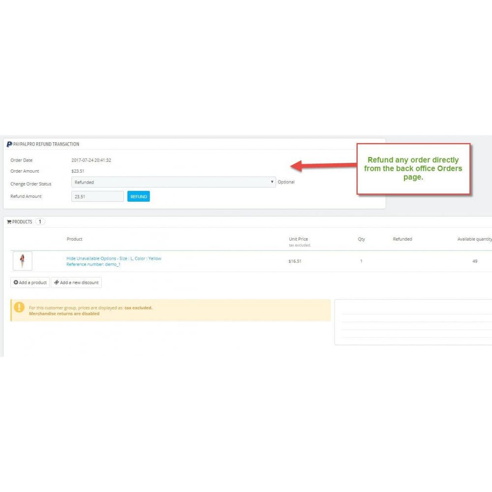 module - Pagamento con Carta di Credito o Wallet - PayPal Pro - 4
