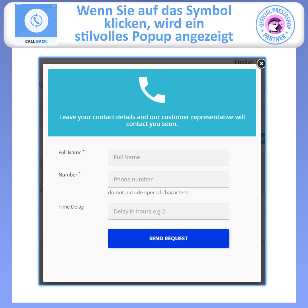 module - Support & Online-Chat - Rückruf – Fixiertes & Schwebendes Rückruf-Formular - 3