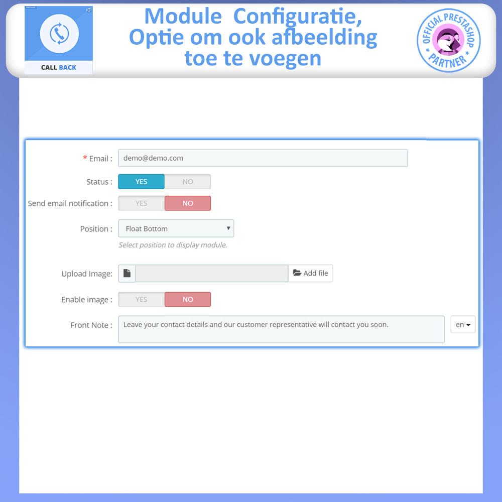 module - Ondersteuning & Online chat - Terugbellen - vast en zwevend terugbelformulier - 5