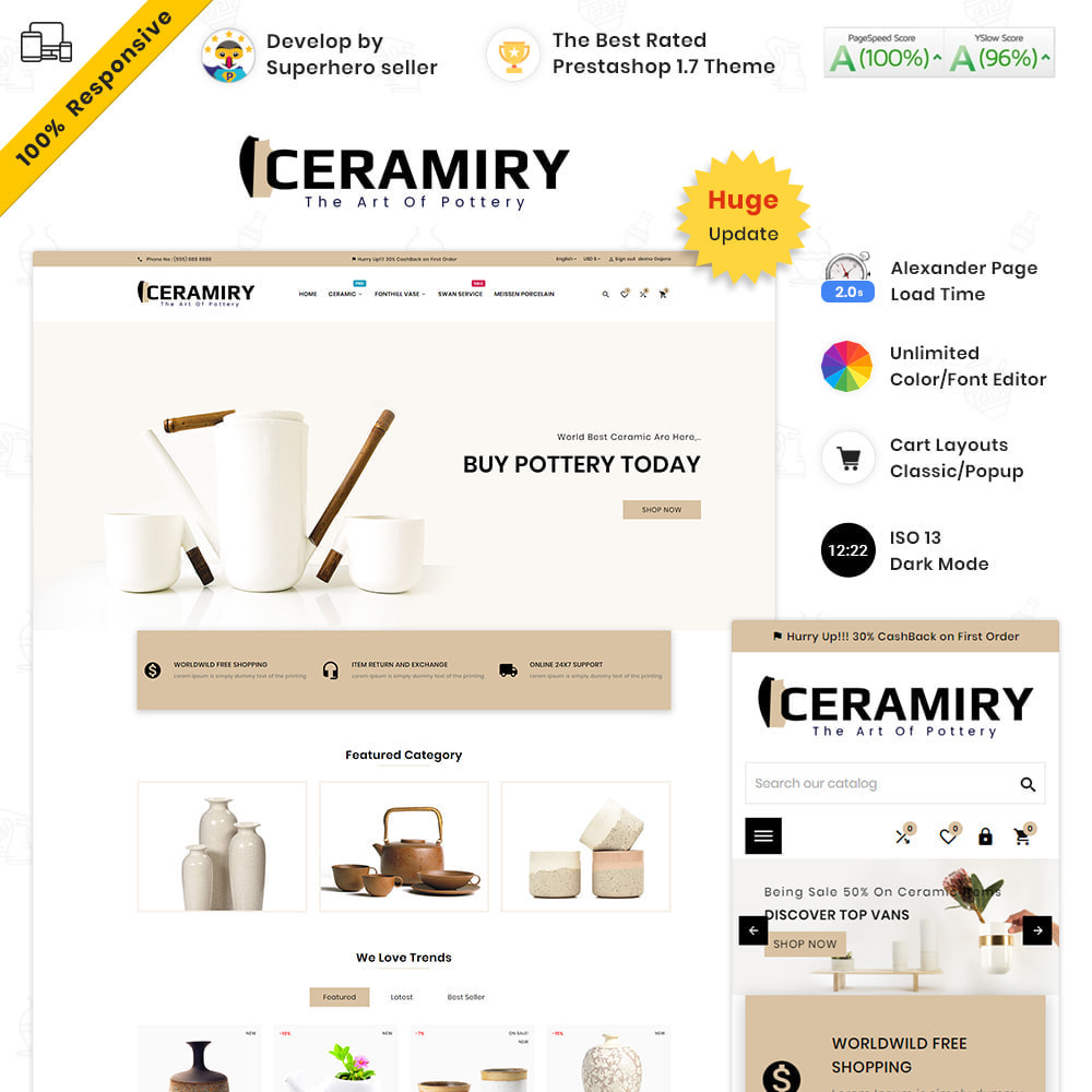theme - Дом и сад - Ceramiry Ceramic–Interior Home–Decor Super Store - 1