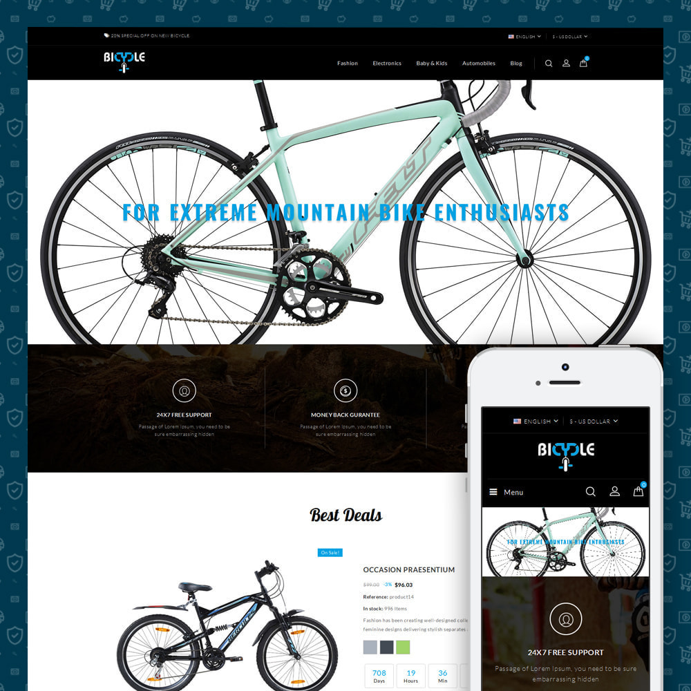 theme - Auto's & Motoren - Bicycle Store - 1