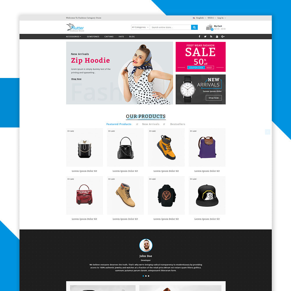 theme - Moda & Calzature - Flutter - The fashion shop - 2
