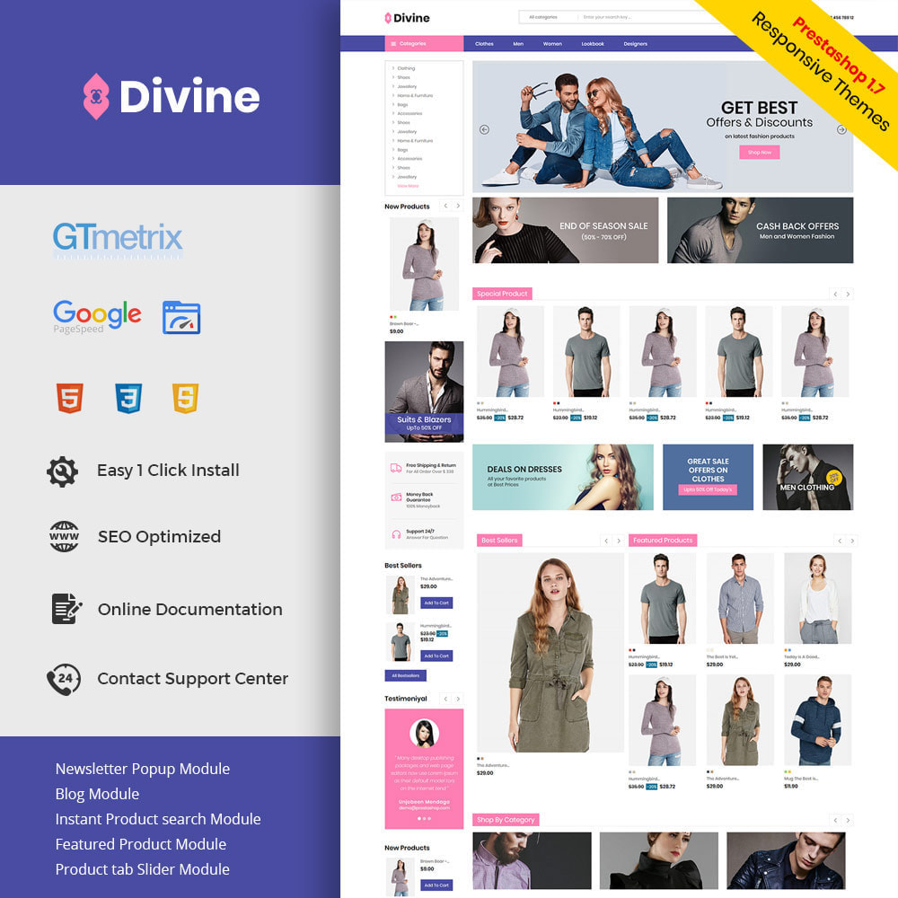 theme - Moda y Calzado - Divine Fashion Designers Accessories - Watch Store - 1