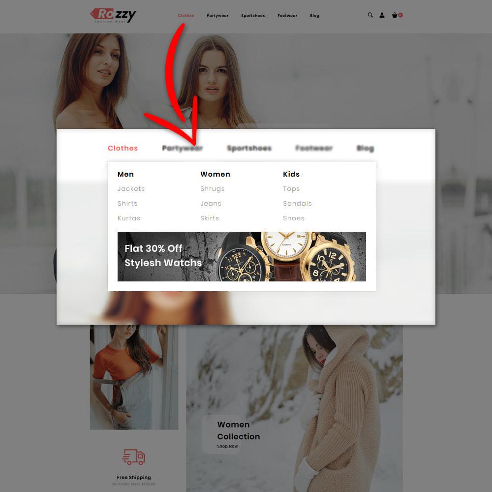 theme - Мода и обувь - Rozzy Fashion Store - 5