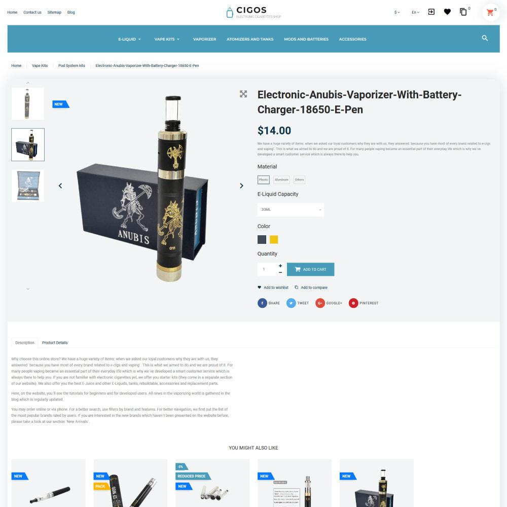 theme - Napoje & Wyroby tytoniowe - Cigos - E-cigarettes Store - 6