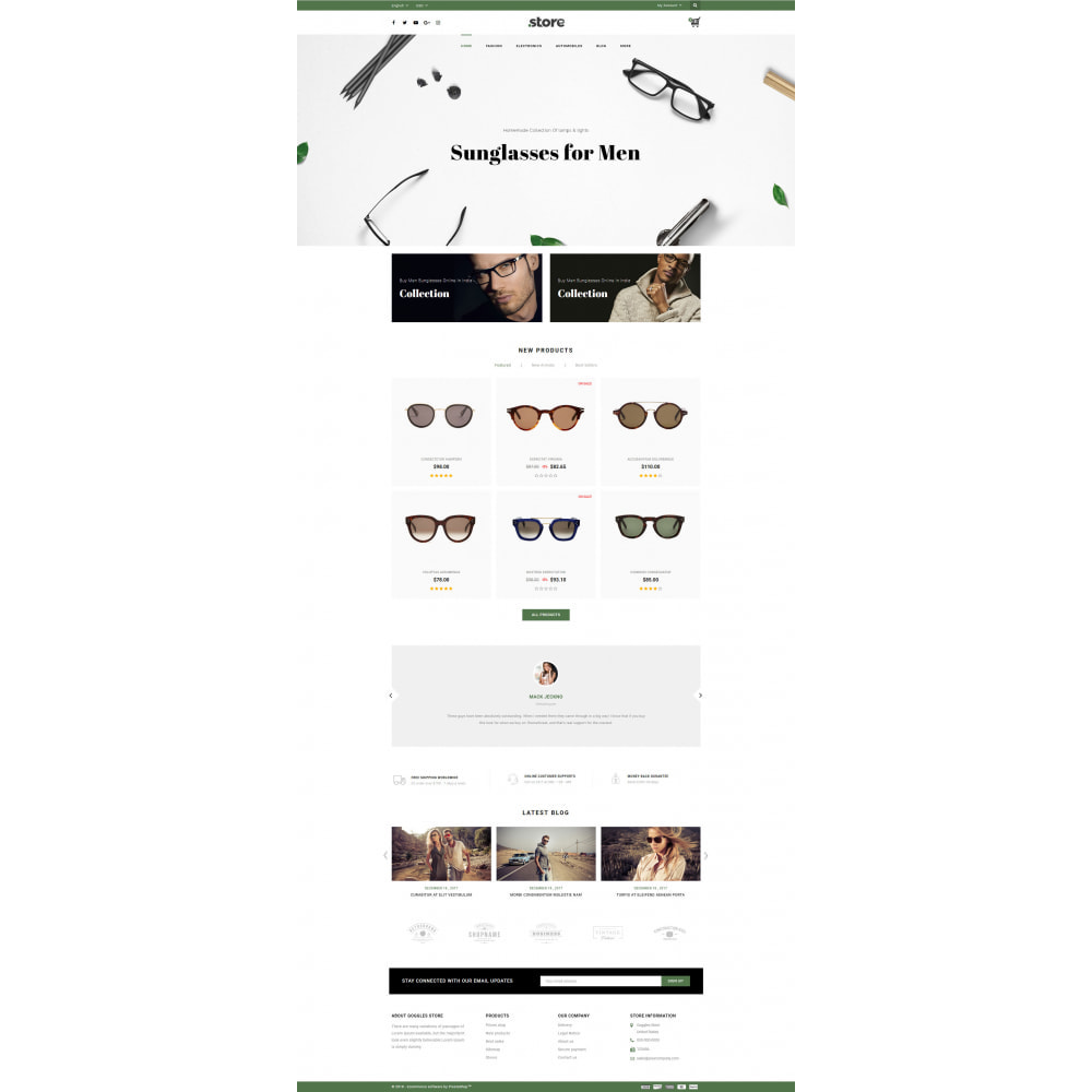 theme - Fashion & Shoes - Eye Glasses Store - 2