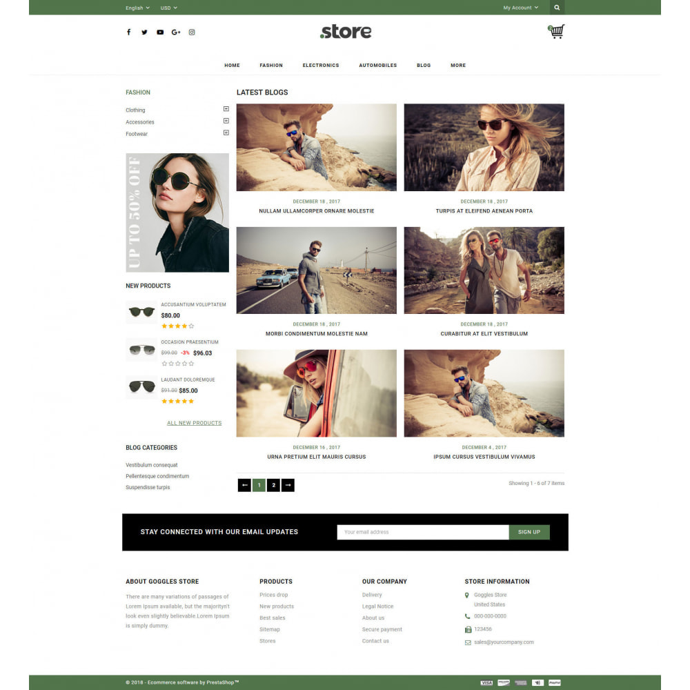 theme - Fashion & Shoes - Eye Glasses Store - 9