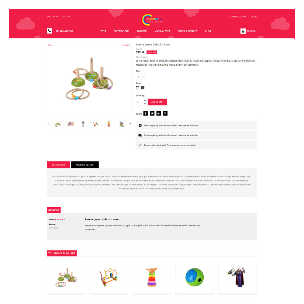 theme - Zabawki & Artykuły dziecięce - Rainbow Kids & Toys Store - 5