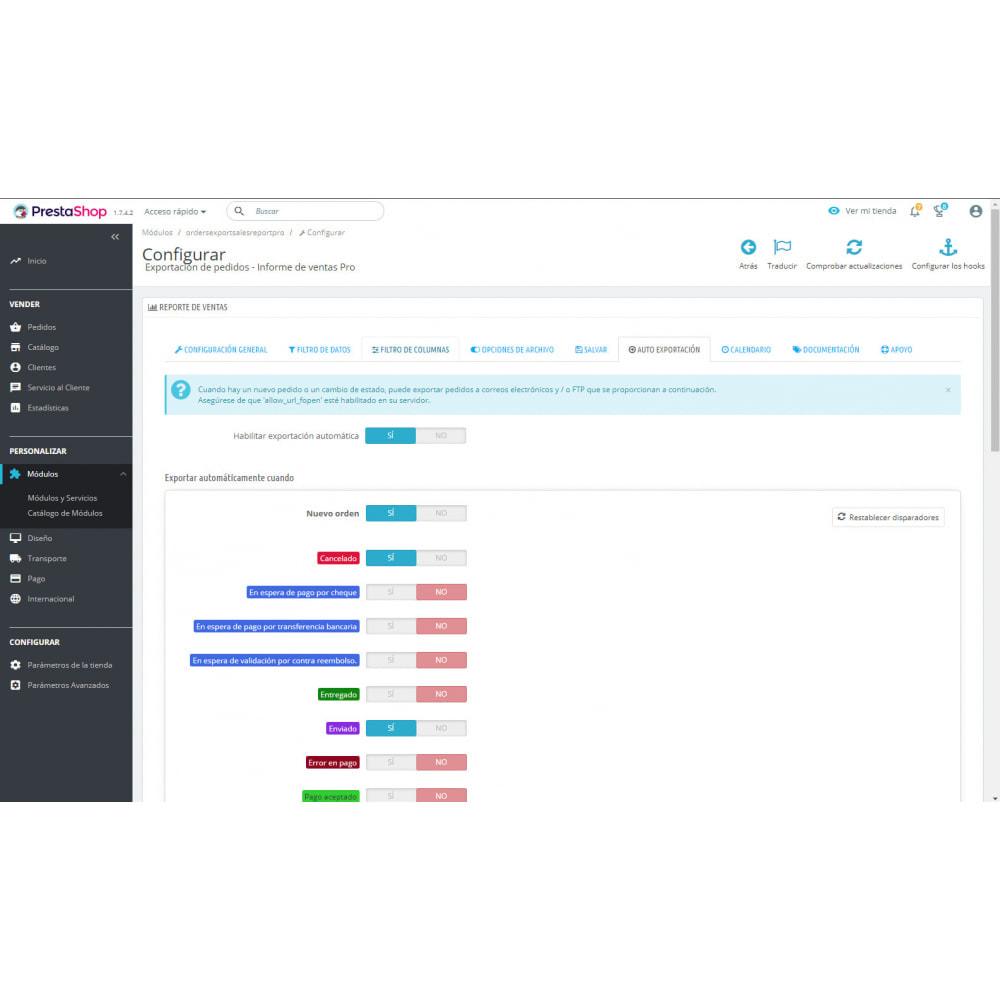 module - Importación y Exportación de datos - Informes Avanzados de Ventas - Mejores Exportaciones - 8