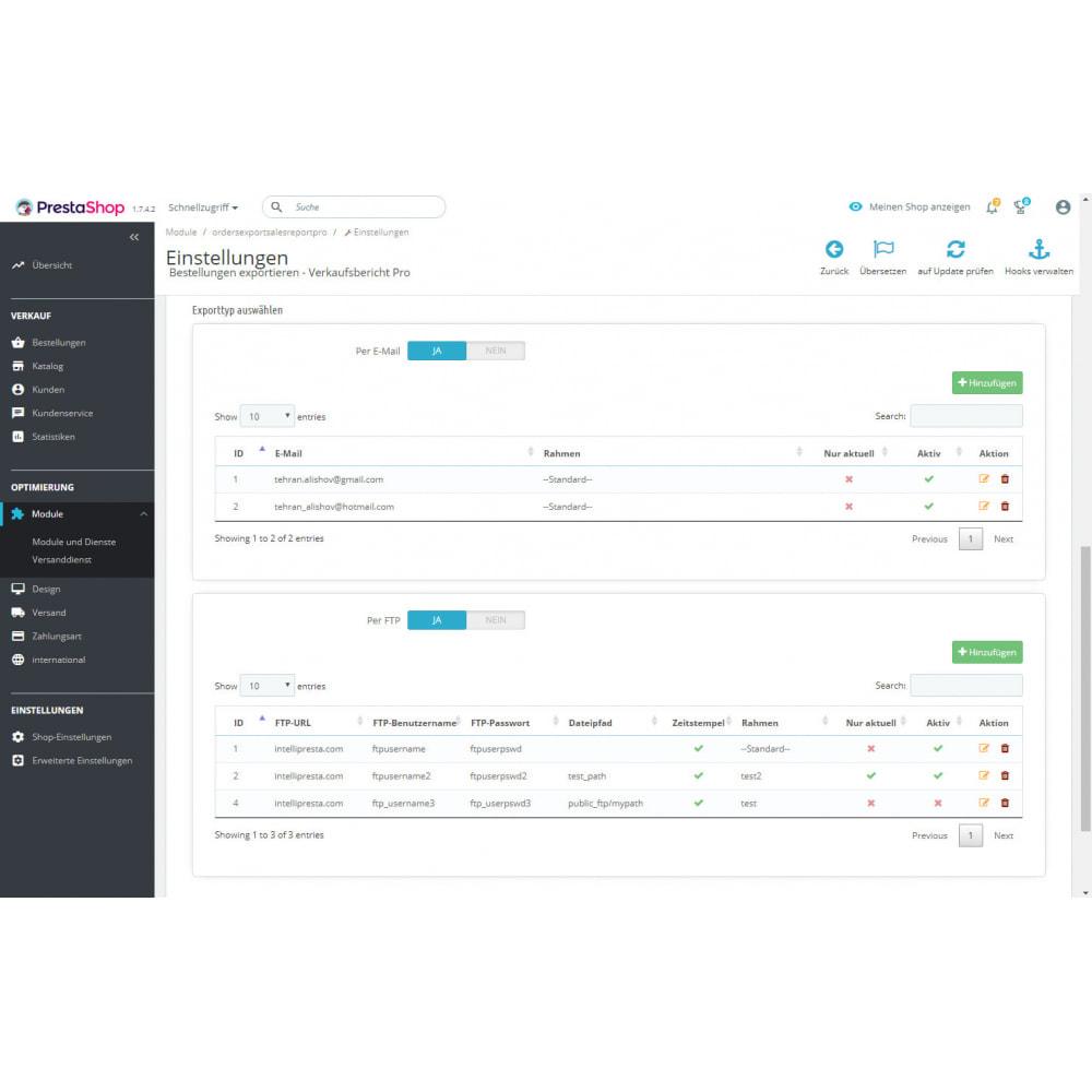 module - Daten Im-&Export - Verkaufsbericht Pro - Export von Bestellungen - 10