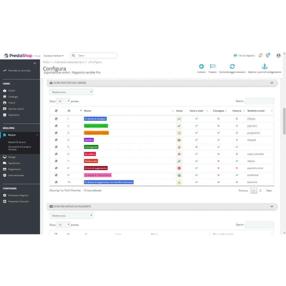 module - Data Import & Export - Migliori Rapporti di Vendita ed Esportazioni Contabili - 3