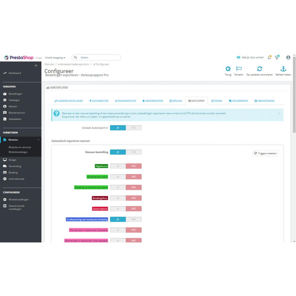 module - Importeren en Exporteren van data - Verkooprapport Pro - Bestellingen Exporteren - 9