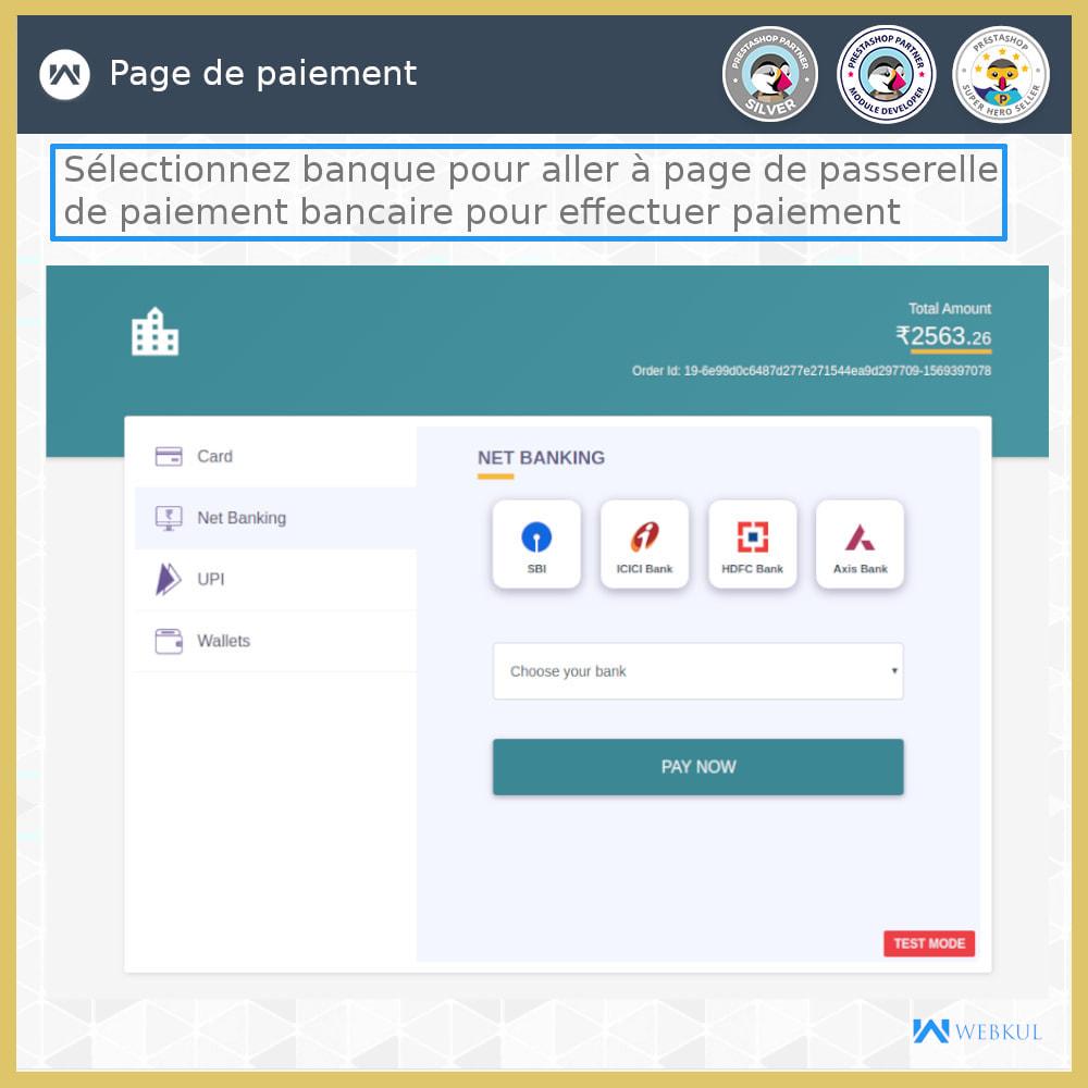 module - Paiement par Carte ou Wallet - Passerelle de paiement UPI - 4