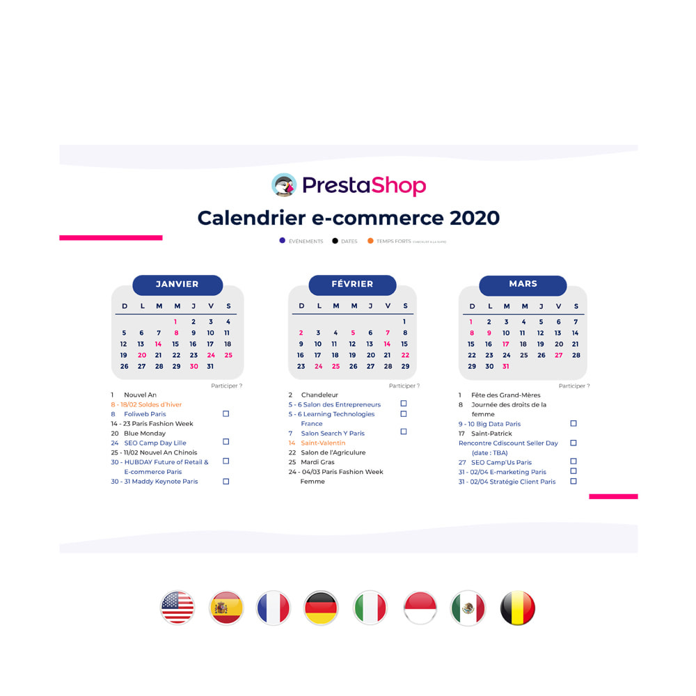 other - e-Commerce Calendar - 2020 E-commerce Calendar FRANCE - 2