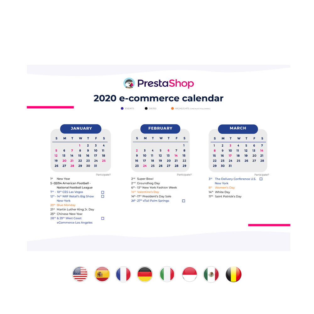 other - eCommerce Kalender - E-Kommerz-Kalender 2020 USA - 2