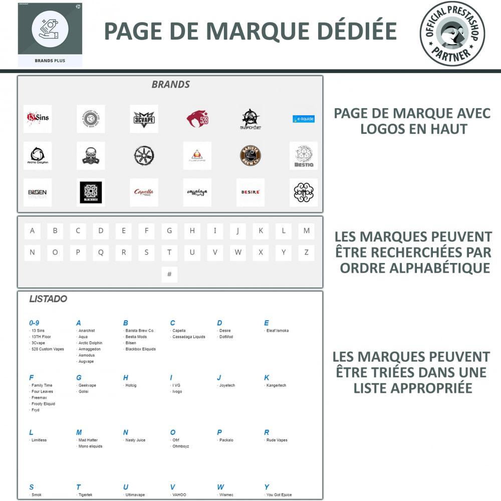 module - Marques & Fabricants - Brands Plus, Marques reactive et Carrousel de Fabricant - 6