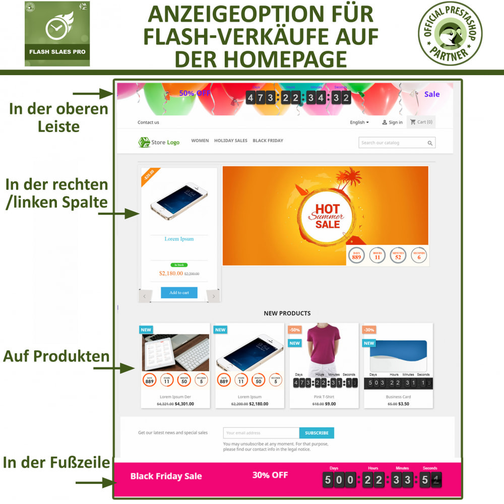 module - Flash & Private Sales - Flash Sales Pro - Werbeverkauf mit Countdown-Timer - 2