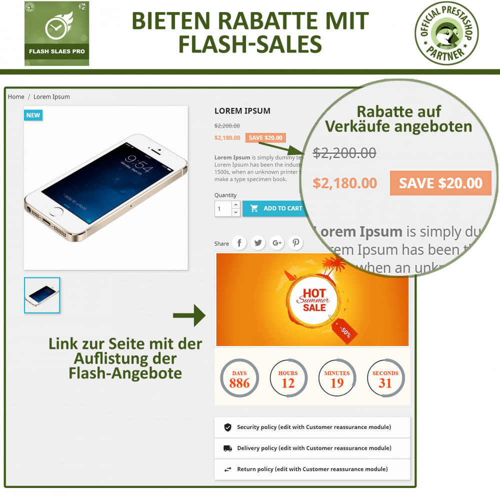 module - Flash & Private Sales - Flash Sales Pro - Werbeverkauf mit Countdown-Timer - 6