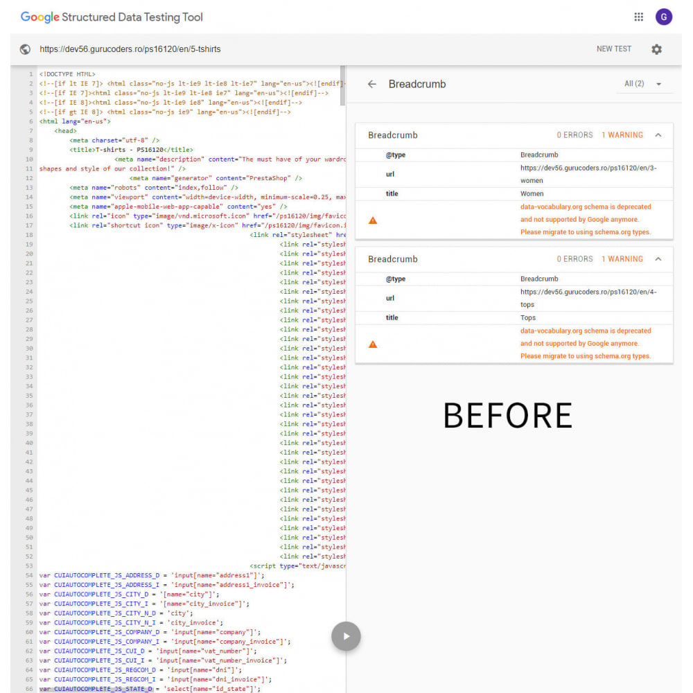 module - SEO (Pozycjonowanie naturalne) - Google Breadcrumb Schema - 1