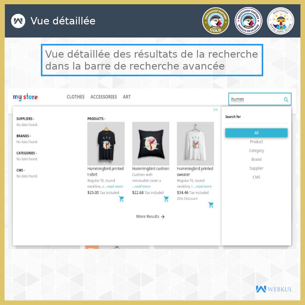 module - Recherche & Filtres - Recherche Avancée - 6