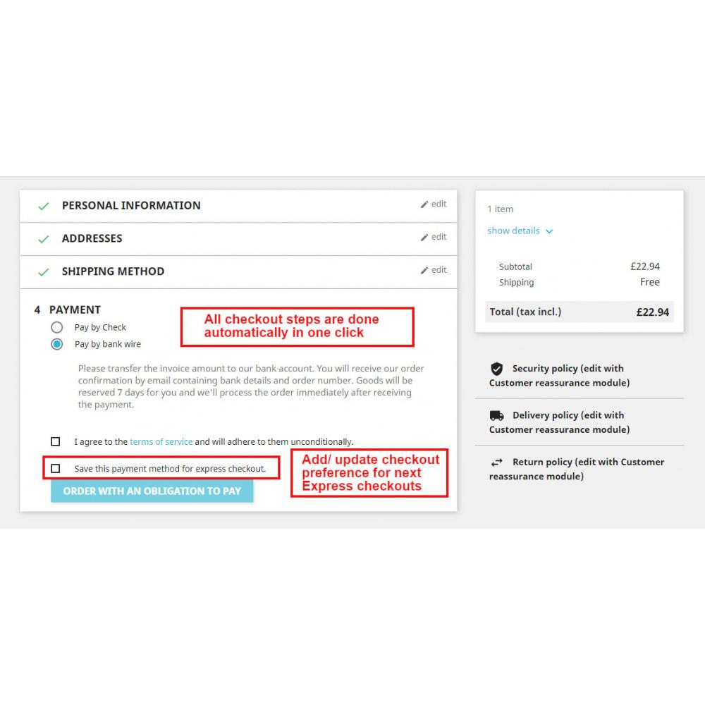 module - Express Checkout Process - Express Checkout Adaptive  Super Fast Order - 3